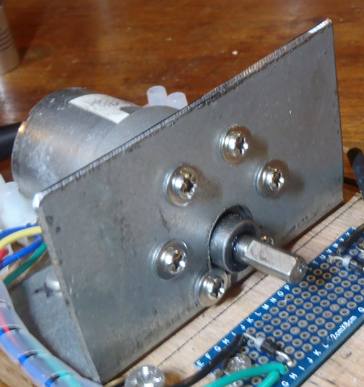 Picture of Making the Base, Motor Mount and Thrust  Bearing Mount