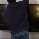 DIY Flat Screen Corner TV Mount
