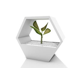 Honeycomb Stackable Planter, 3D Printed