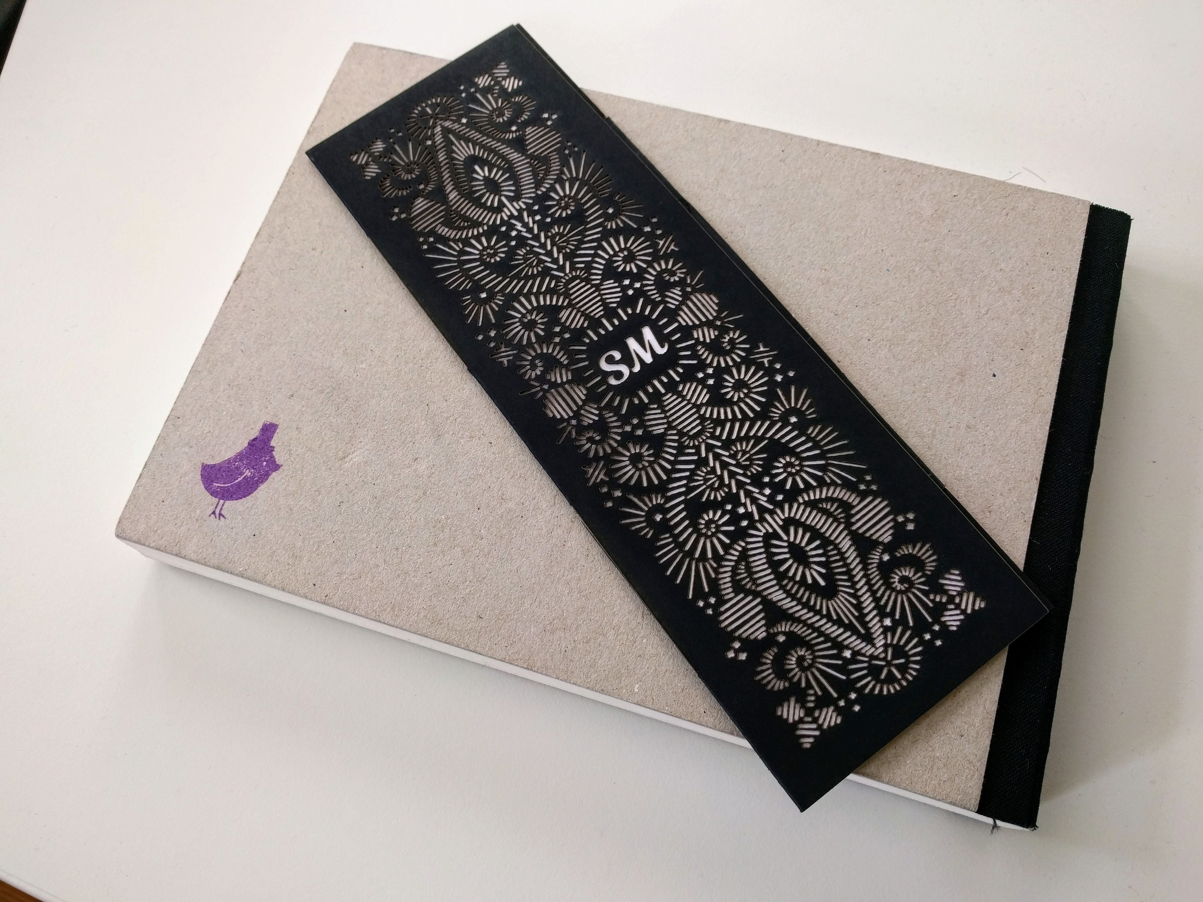 Picture of Intricate Quill Emroidery Style Paper Bookmark