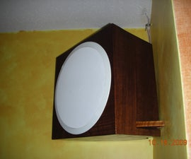 Ceiling Speakers Mounted Into Faux Speaker Boxes.