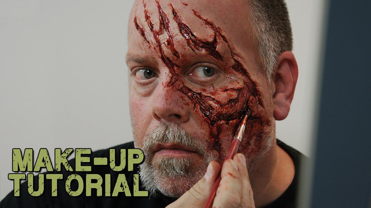 How To Apply A Prosthetic To Yourself  Walking Dead Zombie Style!