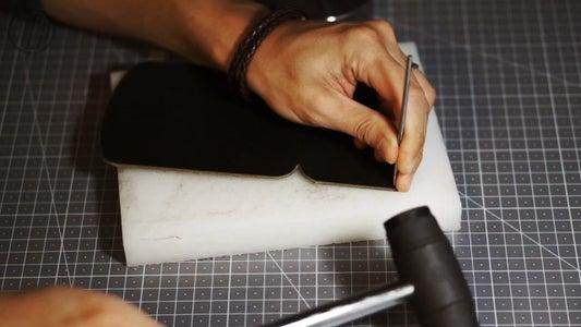 Making Stitching Hole on the Leather