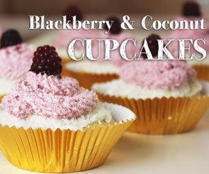 How to Make Blackberry and Coconut CUPCAKES