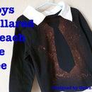 Boys Bleach Tie Tee w/ Faux Collar