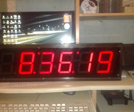 Big 6 Digits Seven Segment Digital Clock