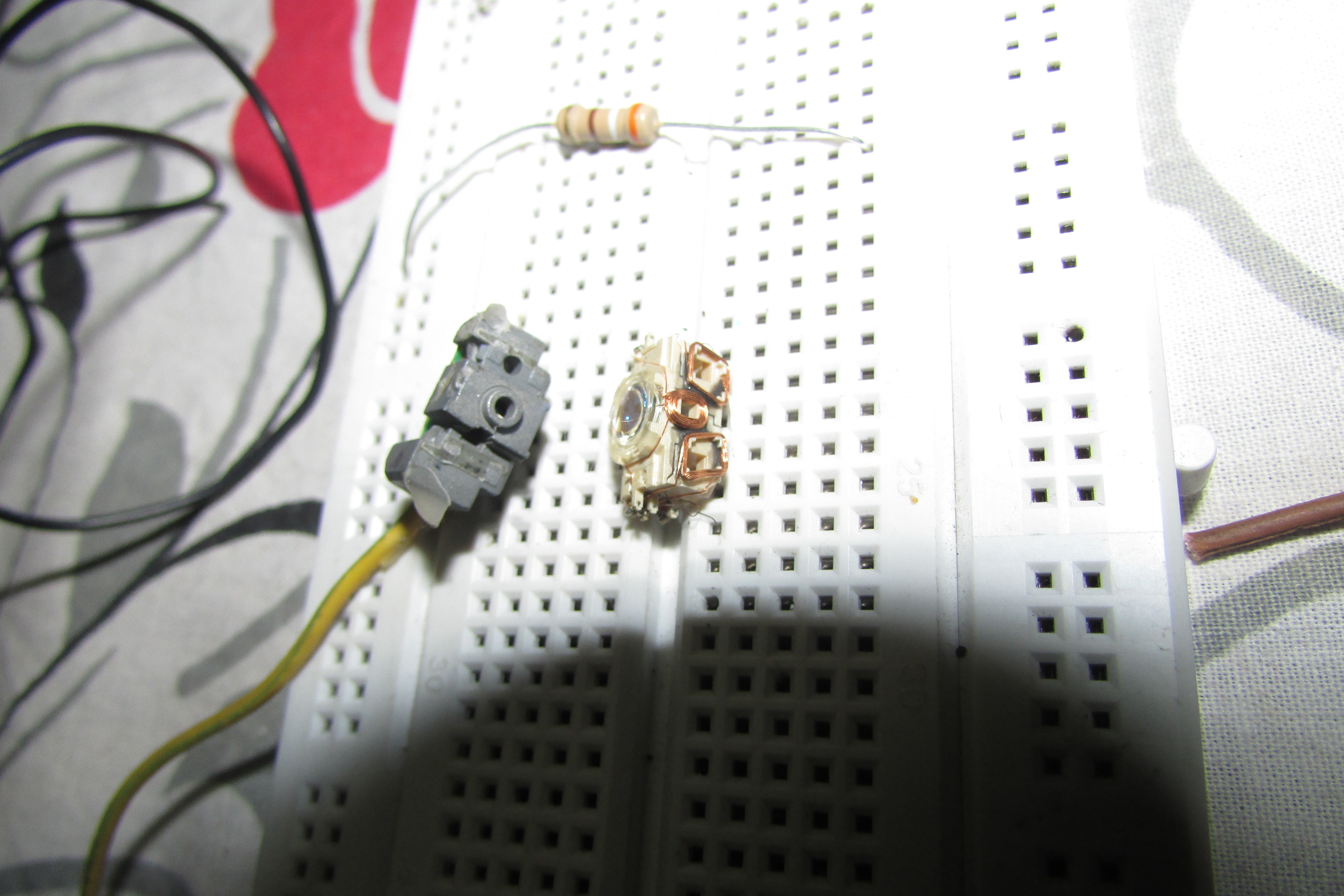 Picture of The IR Laser Diode From Old DVD Burner