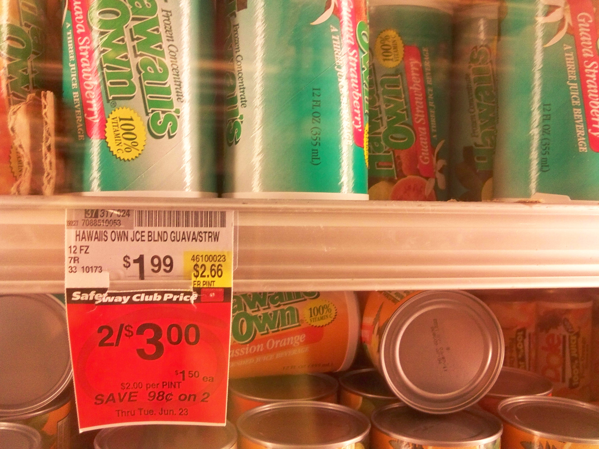"""Picture of """"Hawaii's Own"""" Juice From Concentrate: $5.30 / Gal"""