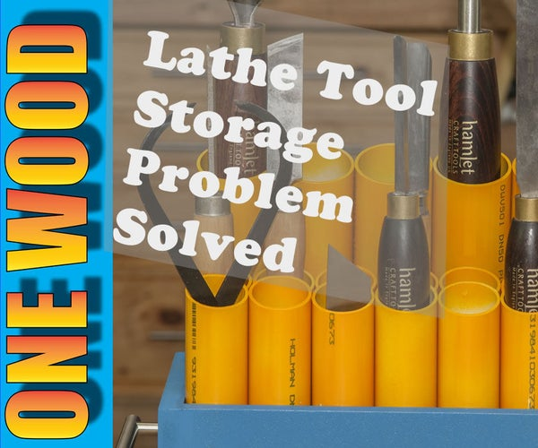 Woodturning Lathe Tool Storage Problems Solved in This Easy Woodworking Project Video
