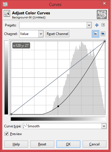 """Picture of Move the Curve So It Looks Like This, Then Click """"OK"""""""