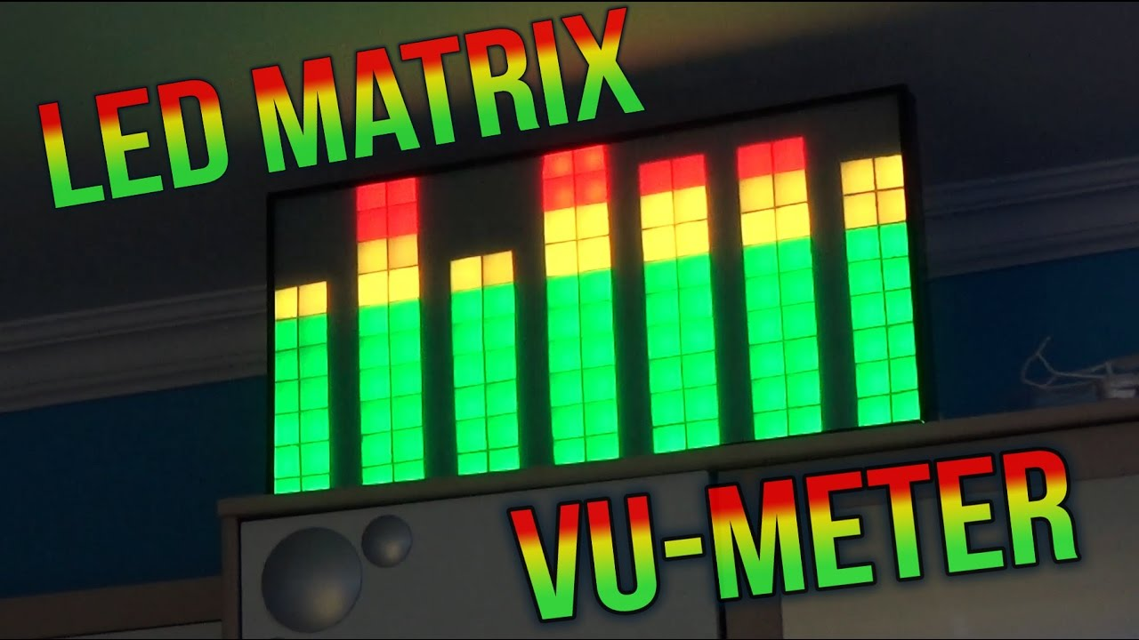Picture of LED Matrix VU-Meter