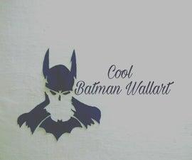 DIY Batman Silhouette Wall-Art
