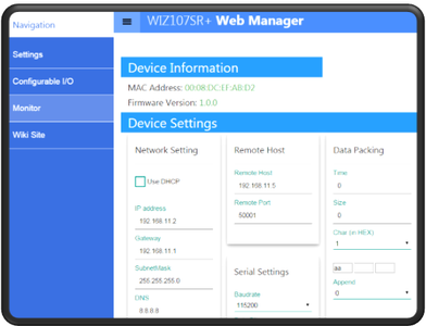 Implemented Web Manager Prototypes