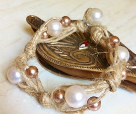Easy Bead And Hemp Bracelet