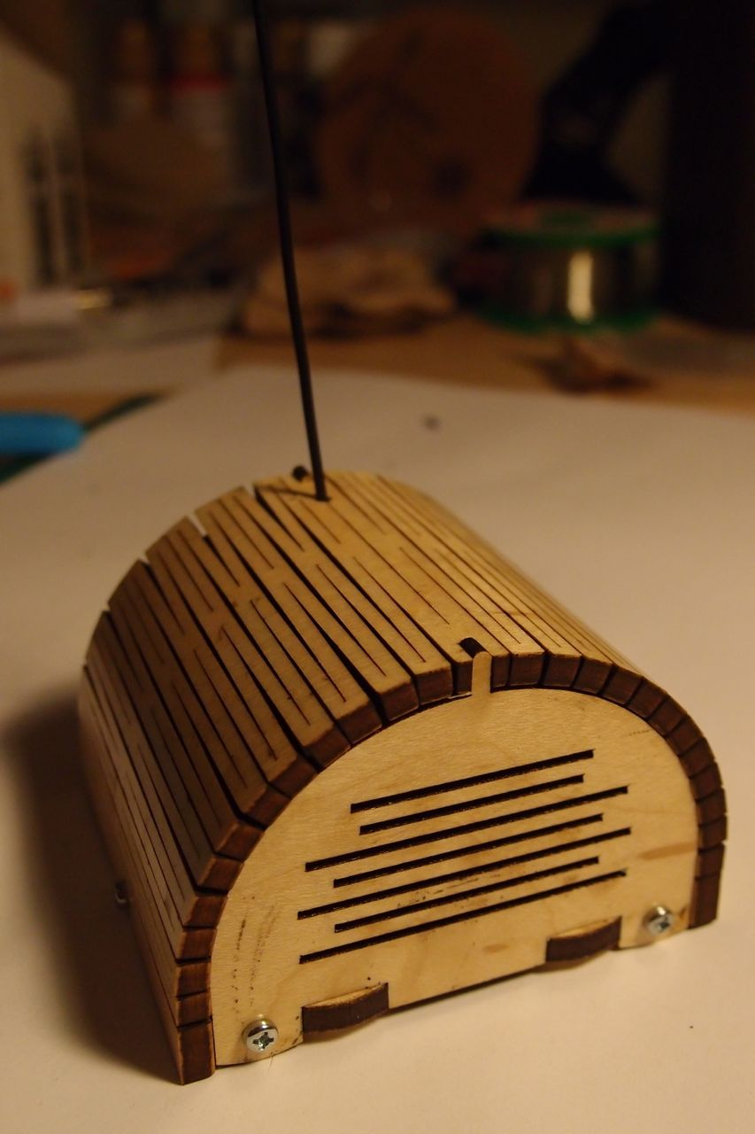 Picture of Laser Cut Enclosure With Living Hinge Lid