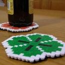 St. Patrick's Pixel Art Coaster for your pints