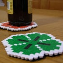 St. Patrick's Pixel Art Coaster for your pints