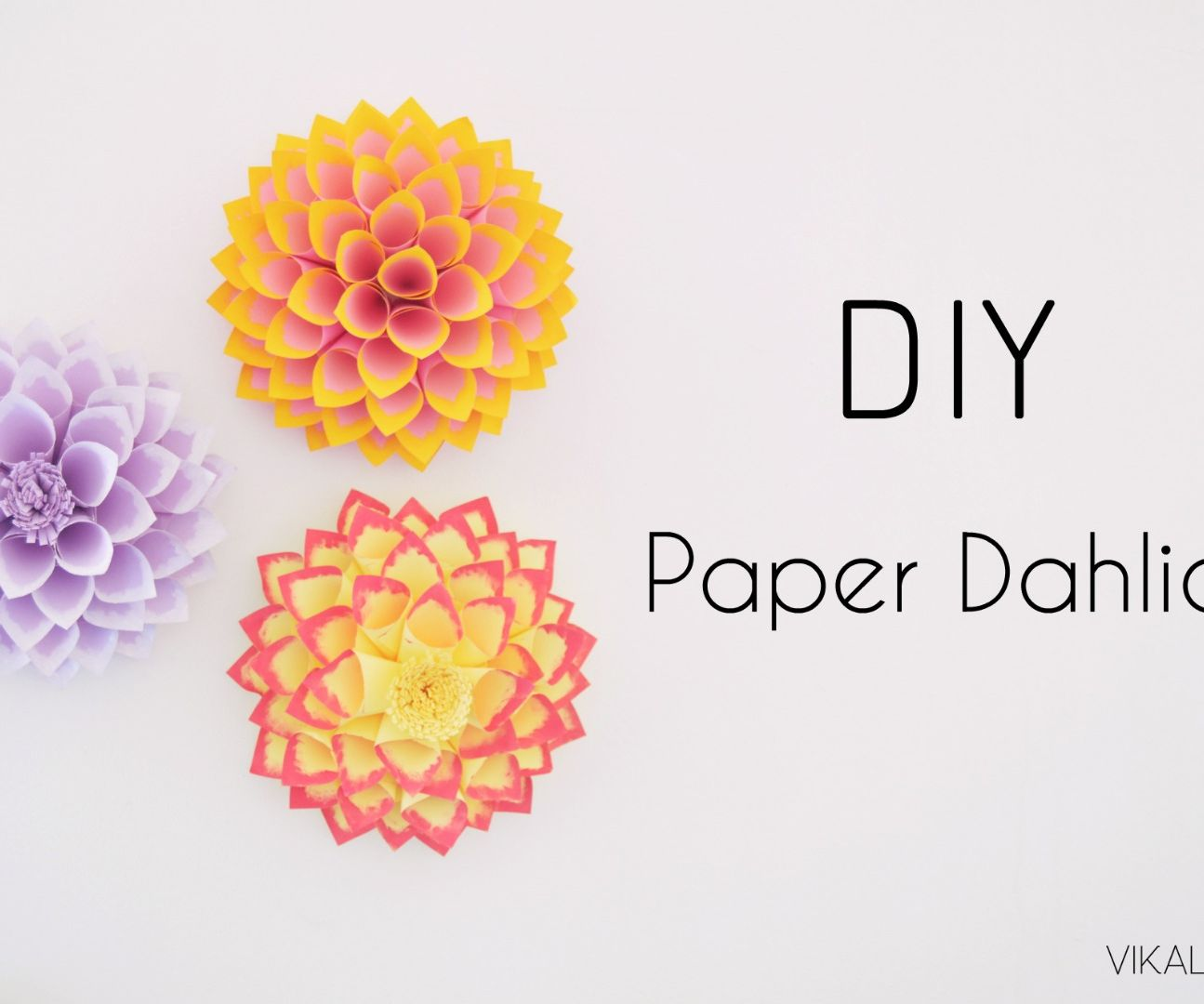 Diy Paper Dahlia 10 Steps With Pictures