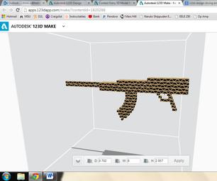 Cardboard Rifle Prop