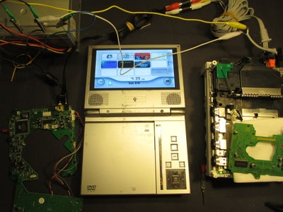 Disassembling the DVD Player