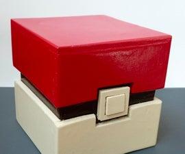 Wooden Pokemon Pokebox (square Pokeball)