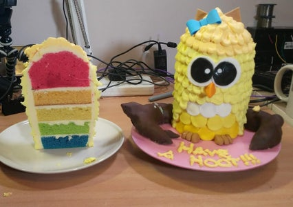 Surprise Yellow Owl Cake
