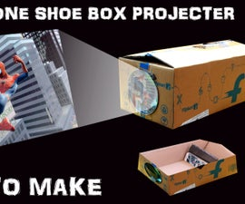 How To Make Smartphone Screen Projector With Shoe box