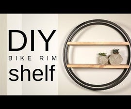 DIY Industrial Bike Rim Shelf