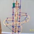 3.5 ft tall K'Nex Roller Coaster (vertical)