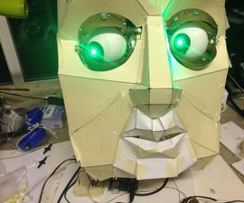 Animatronic Eyes and Wii Nunchuck Part 2 - Give it a Voice