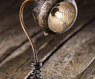 EyeBall Little Desklamp Rusty Steampunk Full Metal