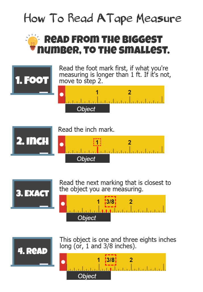 How To Read A Tape Measure 4 Steps With Pictures Instructables