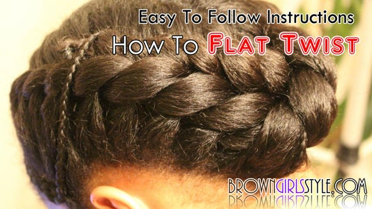 How to Flat Twist Tutorial