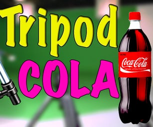 How to make a monopod with Coca-Cola bottle