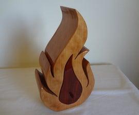 """""""Flaming"""" Bandsaw Box"""