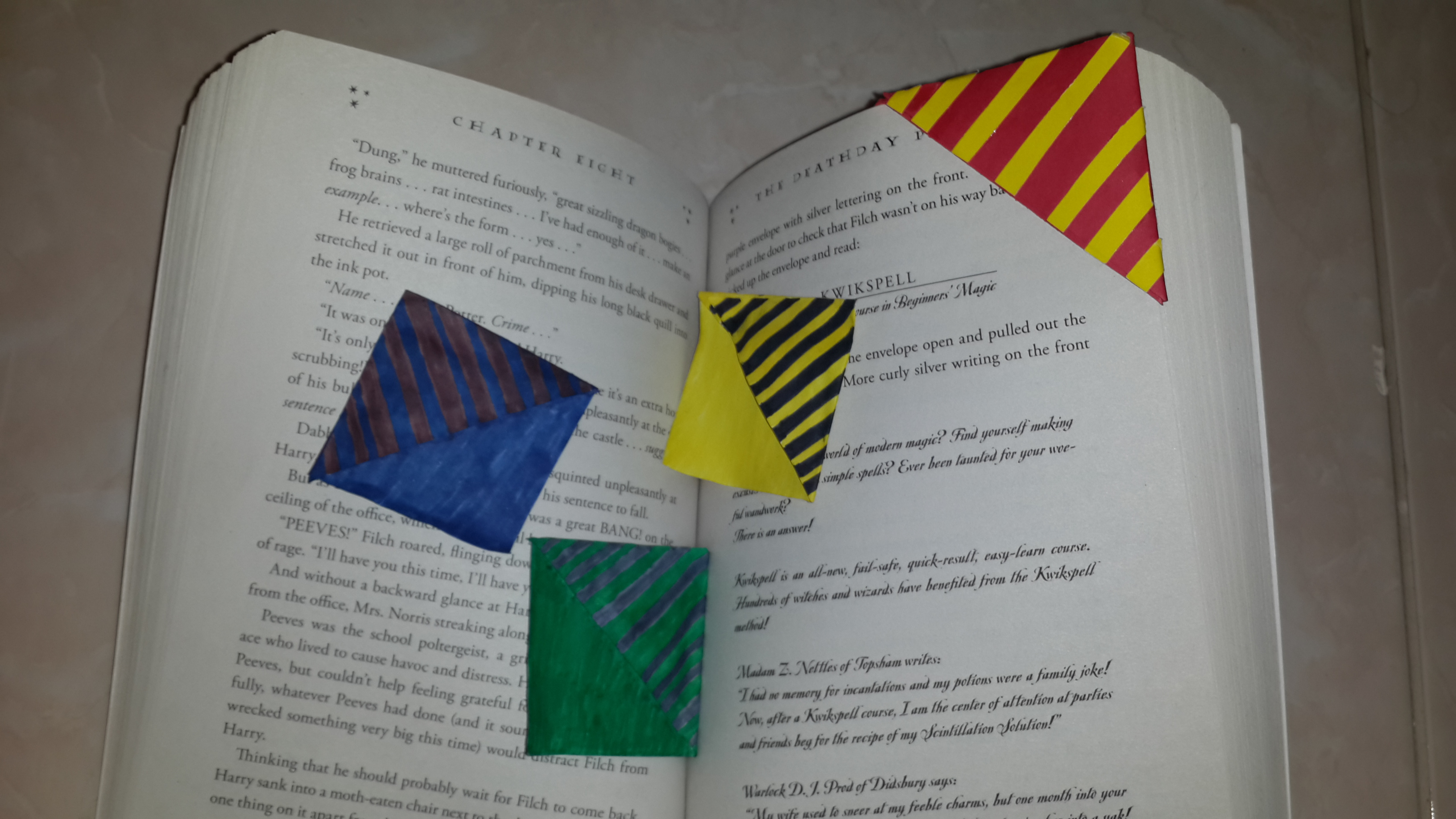 Picture of Harry Potter Different Houses Bookmark Gryfffindor Slytherin Ravenclaw Hufflepuff