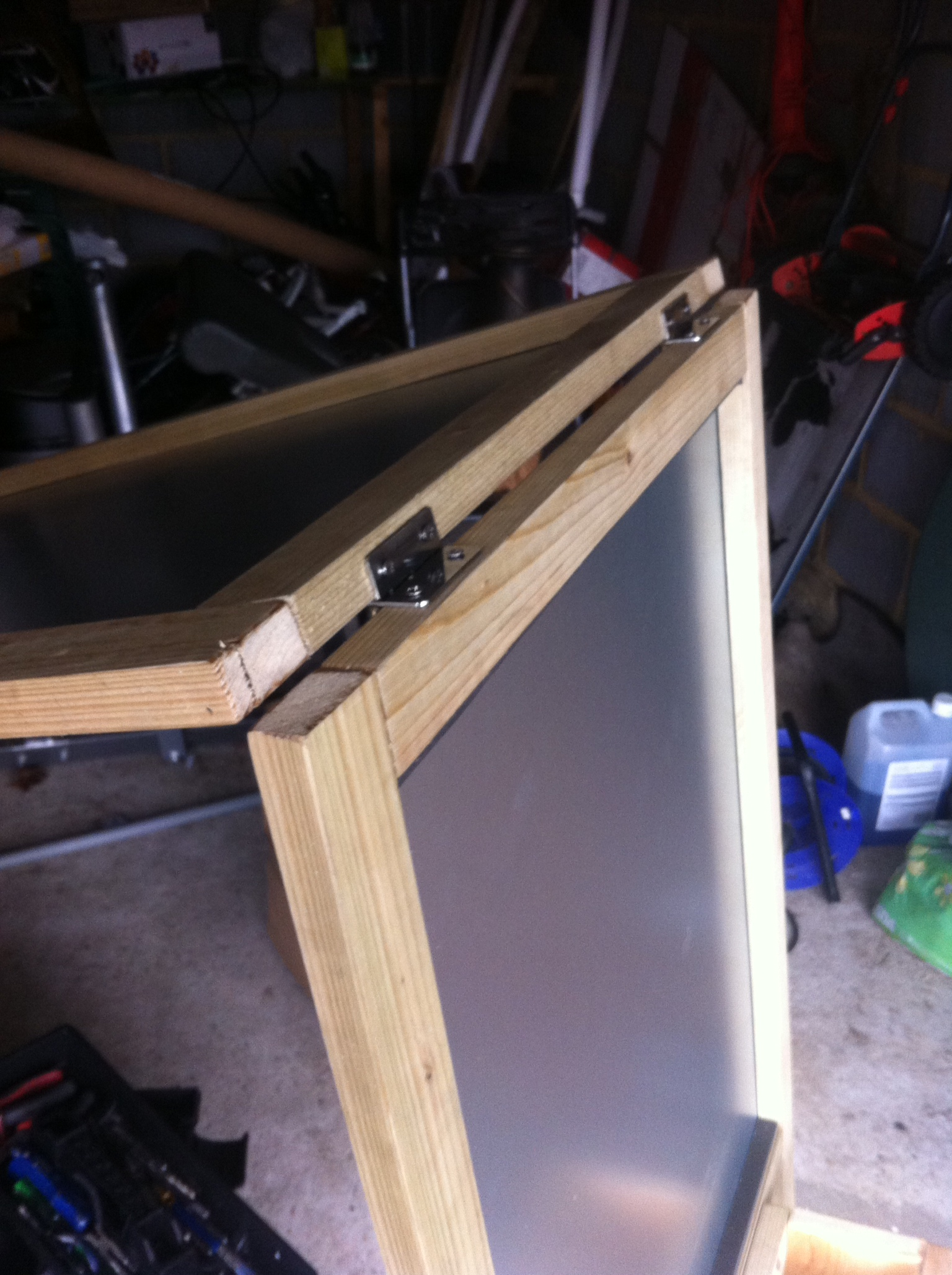Picture of Attach Hinge to Top of Both Frames