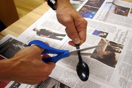 Cut & Attach the Spoon to the Brass Knuckles