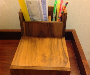 Desk Organizer With a Secret!