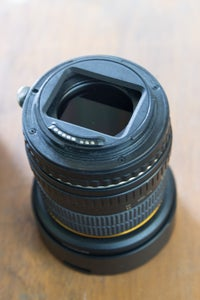 Mounting the Lens With Filter to Camera