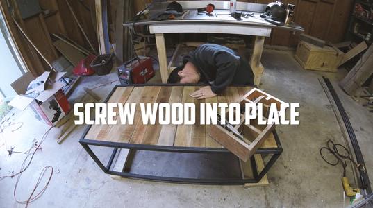 Mount Pallet Wood to Metal Frame