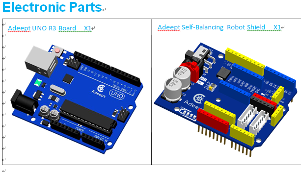 Picture of Components List and Tools
