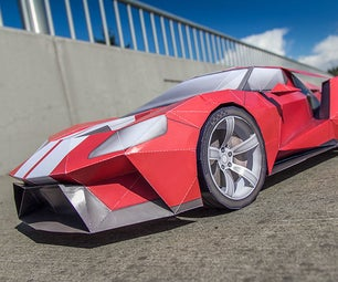 Ford GT Inspired GT Legend Paper Supercraft