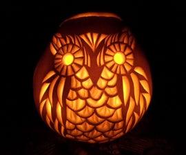 How to carve a  Pumpkin Owl