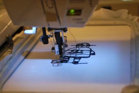 Using the Singer Futura (CNC Sewing Machine at Pier 9)