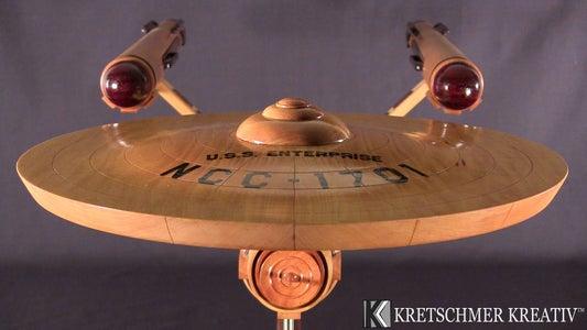 Wooden USS Enterprise Model