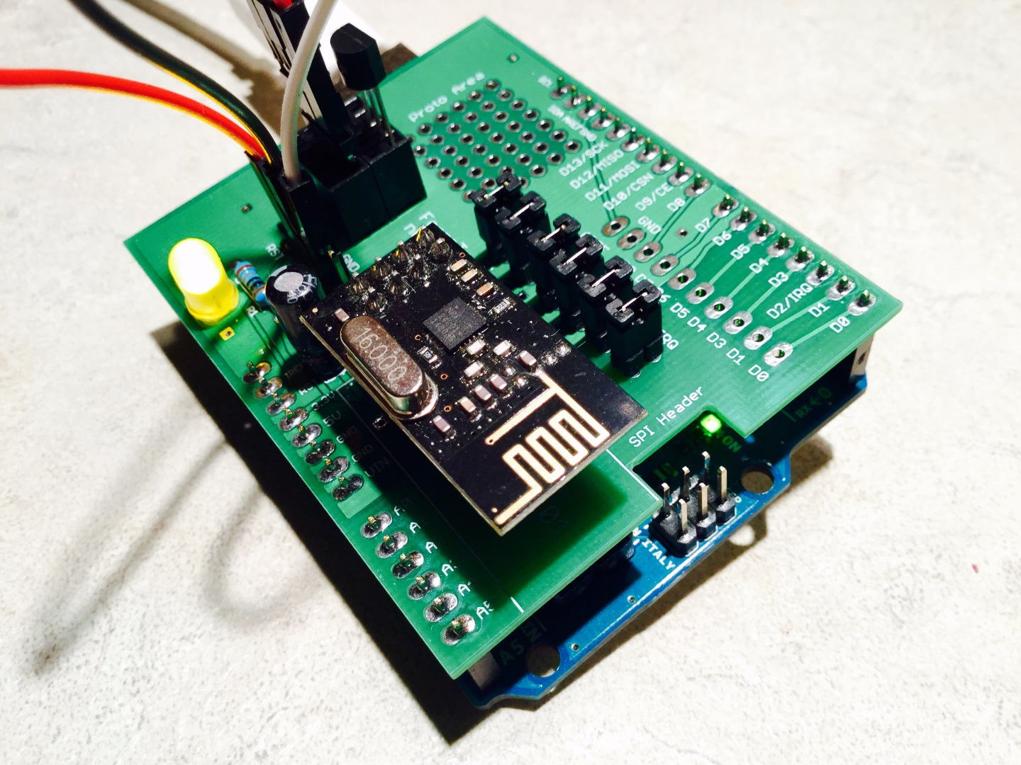 Picture of Building an Arduino Shield for the NRF24L01+ Transceiver