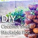 Coconut Shell Stackable Pot
