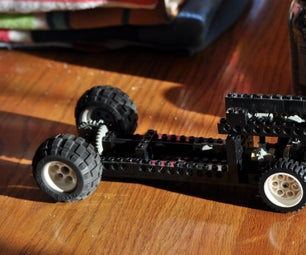 Lego Car With Spinning Engine