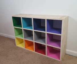 Rainbow Mini Cube Shelf
